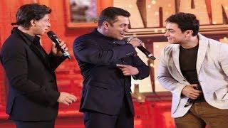 Shah Rukh KHAN, Salman KHAN & Aamir KHAN Together Historical Moment