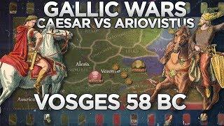 Caesar vs Ariovistus - Battle of Vosges 58 BC DOCUMENTARY
