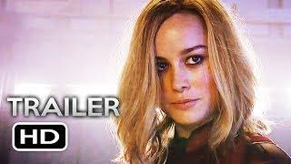 CAPTAIN MARVEL Super Bowl Trailer (2019) Brie Larson Marvel Superhero Movie HD