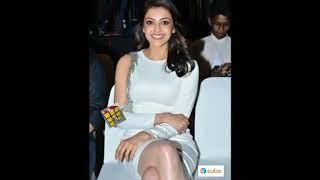 Kajal Agarwal Exposed Hot Thighs & Legs   kajal agarwal hot in white dress   kajal hot thighs show??