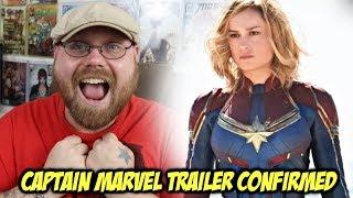 Captain Marvel Trailer Confirmed!!!