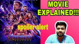 AVENGERS ENDGAME FULL MOVIE EXPLAINED|WITH SPOILERS