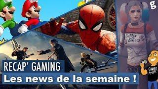 Suicide Squad dans PUBG / Film Mario / Spider-Man PS4 DLC / Fin Final Fantasy XV