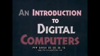 REMINGTON RAND UNIVAC  INTRODUCTION TO DIGITAL COMPUTERS  1960s MAINFRAME COMPUTING FILM  64454