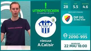 FanTV Allsvenskan Fantasy Deadline: Gameweek 8